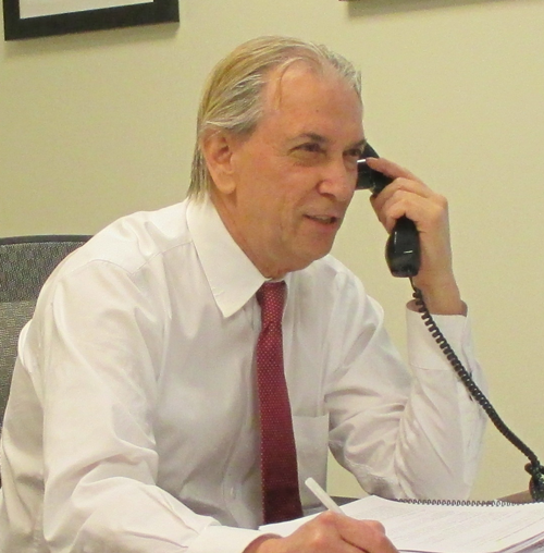 Attorney Gordon E. Feener hard at work on resolving homeowner insurance claims
